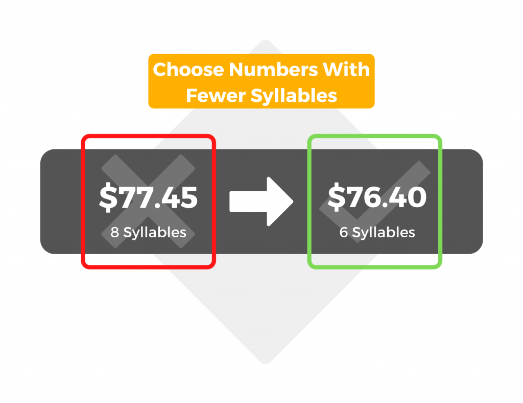 Choose numbers with fewer syllables