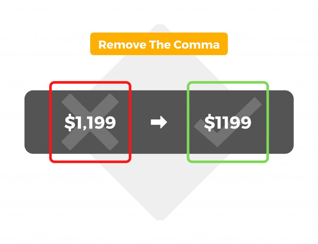 Remove the comma